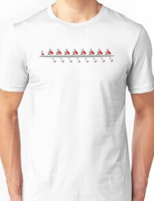 Rowing - an 8+, red & black, light background T-Shirt