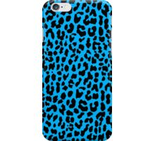 Neon Blue Leopard iPhone Case/Skin