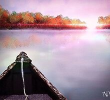 Autumn Sunset from Canoe by Penny Marcus