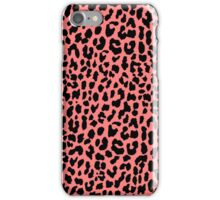 Neon Coral Leopard iPhone Case/Skin
