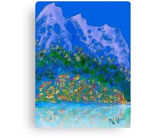 Mountains and wildflowers 2 Canvas Print