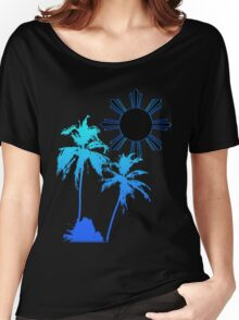Tranquil Skies and Seas Women's Relaxed Fit T-Shirt