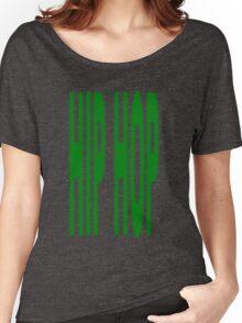 Hip Hop blur green Women's Relaxed Fit T-Shirt