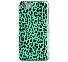 Neon Mint Leopard iPhone Case/Skin