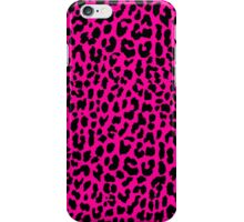 Neon Pink Leopard iPhone Case/Skin