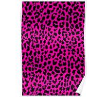 Neon Pink Leopard Poster