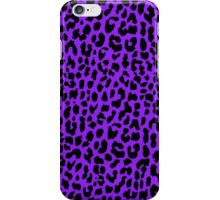 Neon Purple Leopard iPhone Case/Skin