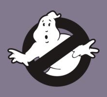 Original Ghostbusters Logo (in black and white) Kids Tee