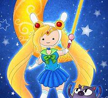 Sailor Fionna and Cake by NikkiWardArt