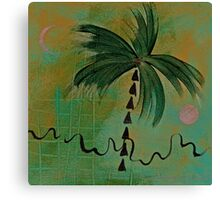 PALM MOON SUN EARTH Canvas Print