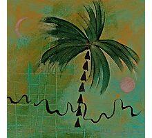 PALM MOON SUN EARTH Photographic Print