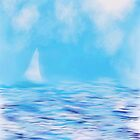 Sailboat on Lake Michigan by Penny Marcus