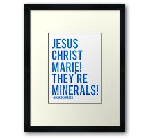 Jesus Christ Marie! They're minerals! Framed Print