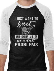 I Just Want to Knit Shirt Men's Baseball ¾ T-Shirt
