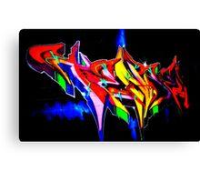 "Classic Graffiti on a ""Permission Wall"" Canvas Print"