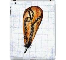 Brown Feather On Graph iPad Case/Skin