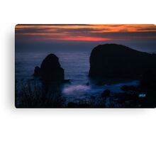 harris beach Canvas Print