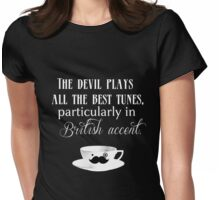 The Devil's Accent Womens Fitted T-Shirt