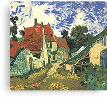 Villages Street in Auvers by Vincent van Gogh.  Canvas Print