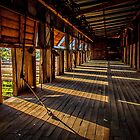 Early morning at the woolshed by Chris Brunton