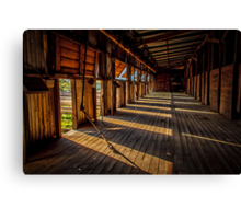 Early morning at the woolshed Canvas Print
