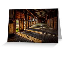 Early morning at the woolshed Greeting Card