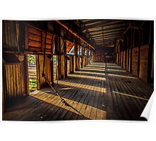 Early morning at the woolshed Poster