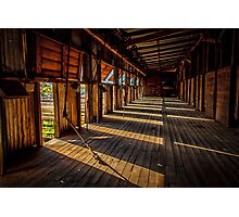 Early morning at the woolshed Photographic Print