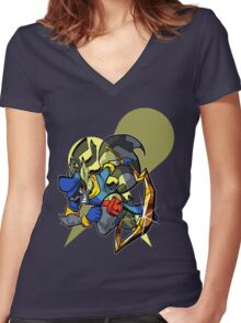 SLY COOPER Women's Fitted V-Neck T-Shirt