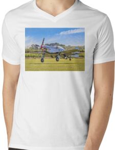 """Marinell"", the autographed Mustang Mens V-Neck T-Shirt"