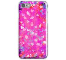 Grunge hearts abstract art II iPhone Case/Skin