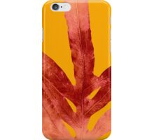 Green Fern on Red On Fire  iPhone Case/Skin