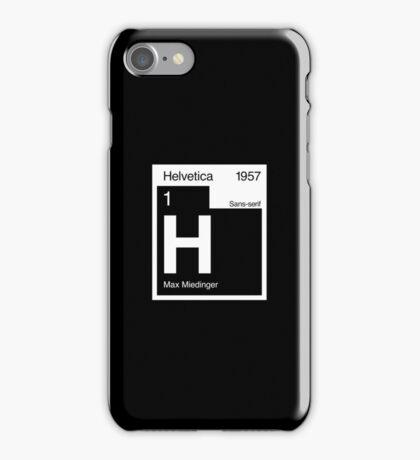 Helvetica Periodic Logo 2 (in white) iPhone Case/Skin