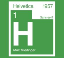 Helvetica Periodic Logo 2 (in white) Kids Tee