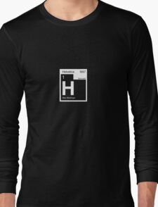 Helvetica Periodic Logo 2 (in white) Long Sleeve T-Shirt