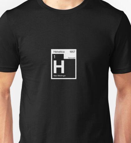 Helvetica Periodic Logo 2 (in white) Unisex T-Shirt