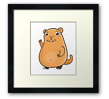 GroundHog Kawaii Framed Print