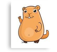 GroundHog Kawaii Canvas Print