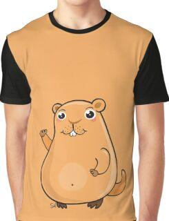 GroundHog Kawaii Graphic T-Shirt