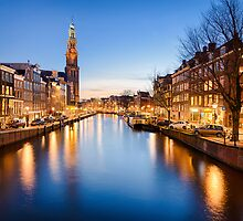 Winter sunset in Amsterdam by Michael Abid