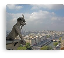Gargoyle surveying Paris Canvas Print