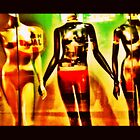 mannequins in shop window by MCANTO