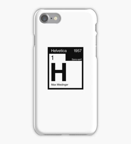 Helvetica Periodic Logo 2 (in black) iPhone Case/Skin