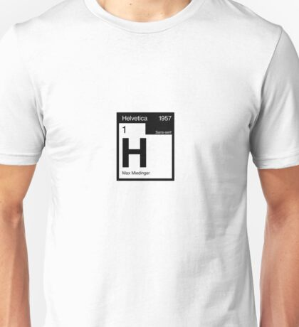 Helvetica Periodic Logo 2 (in black) Unisex T-Shirt