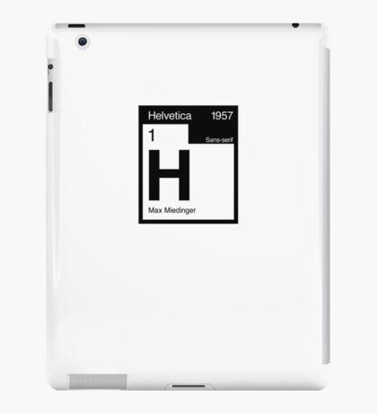 Helvetica Periodic Logo 2 (in black) iPad Case/Skin