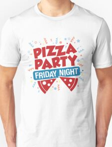 Pizza Party Friday Night T-Shirt