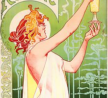 'Absinthe Robette' by Alphonse Mucha (Reproduction) by Roz Barron Abellera
