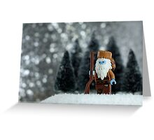 Yeti Crockett - King of the Wild Frontier Greeting Card