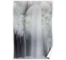 Icy Falling Water Poster