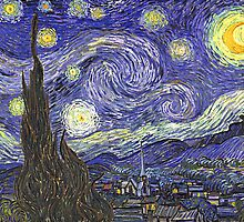 'Starry Night' by Vincent Van Gogh (Reproduction) by Roz Abellera